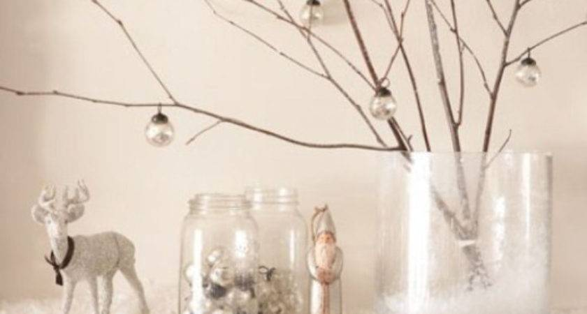 Silver White Christmas Decor Twigs Just Decorate