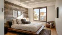 Simple Bedroom Ideas White Wooden Beam Ceiling