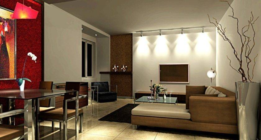 Simple Dining Living Room Interior Design House