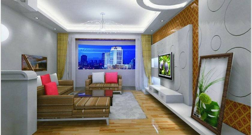 Simple False Ceiling Design Small Living Room