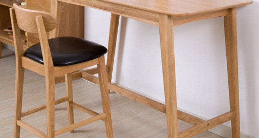 Simple Household Bar Table Modern Contracted Solid Wood