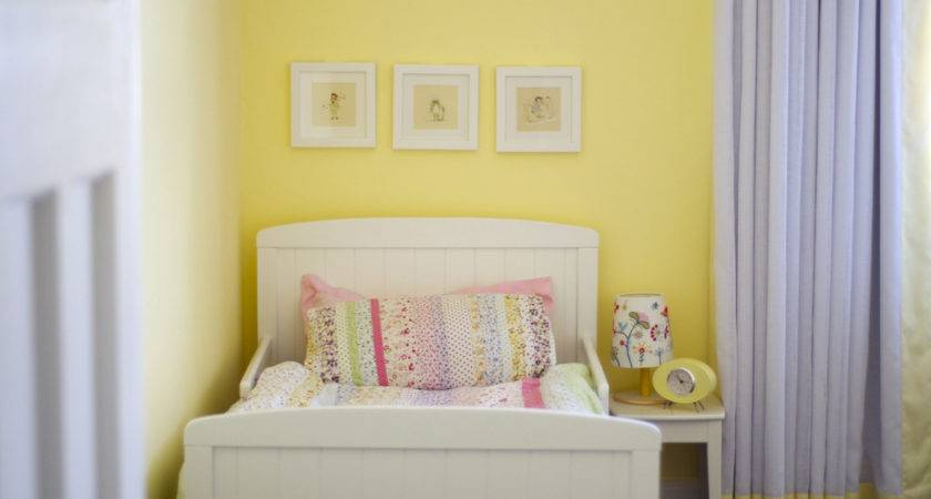Simple White Girls Room Set Yellow Wall Paint Color