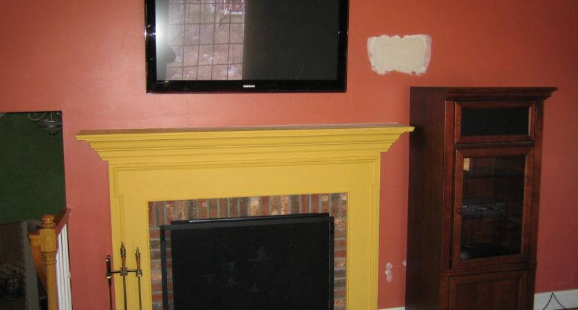 Simsbury Mount Above Fireplace Home Theater