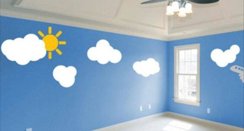 Sky Bedroom Wall Blue Decor Ideas