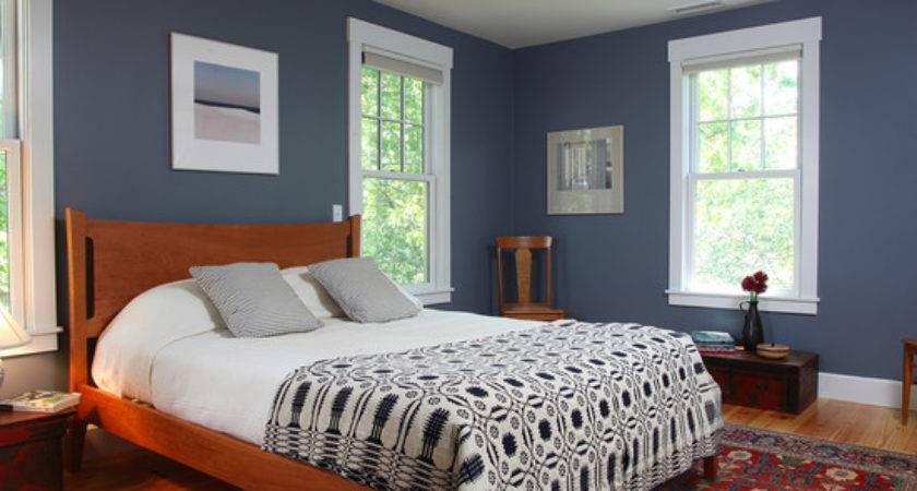 Slate Blue Walls Inspirational Bedroom Design