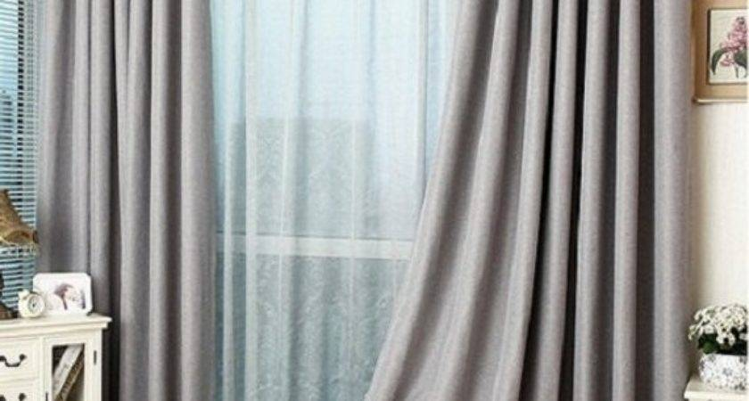 Slate Grey Blackout Curtain Insulation Tailor