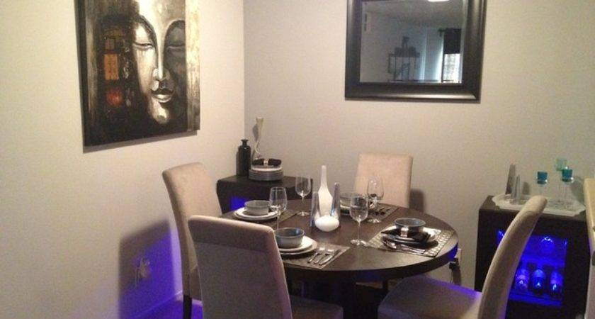 Small Apartment Contemporary Dining Room Los Angeles