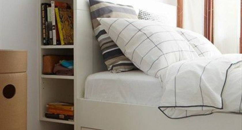 Small Bedroom Headboard Storage Ideas Home