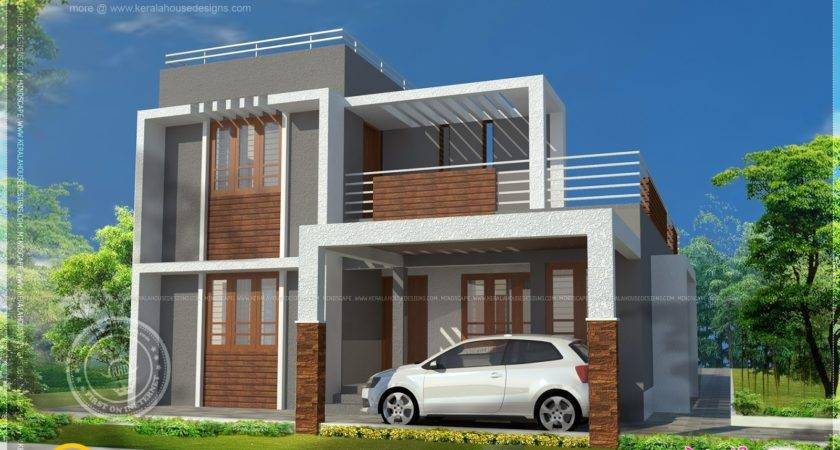 Small Double Storied Contemporary House Plan Kerala Home