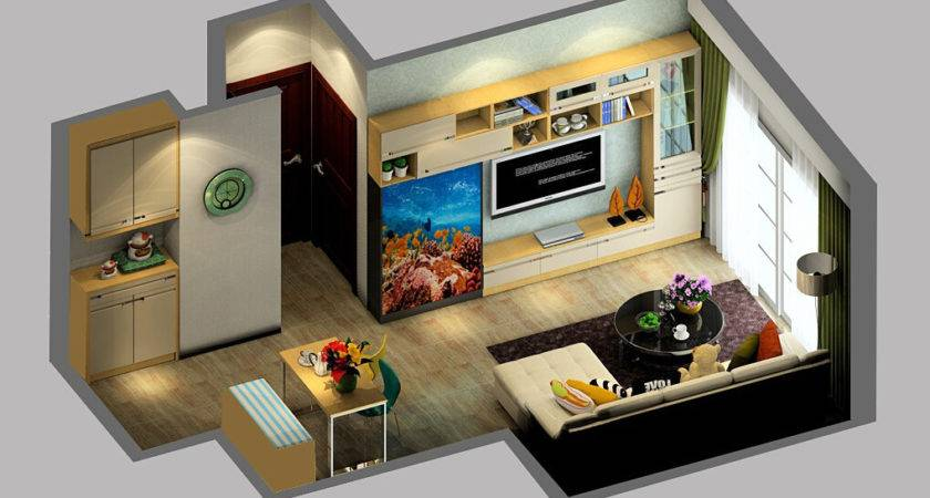 Small House Interior Design Aquarium