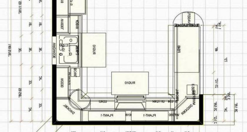 Small Kitchen Floor Plans Design Decoration