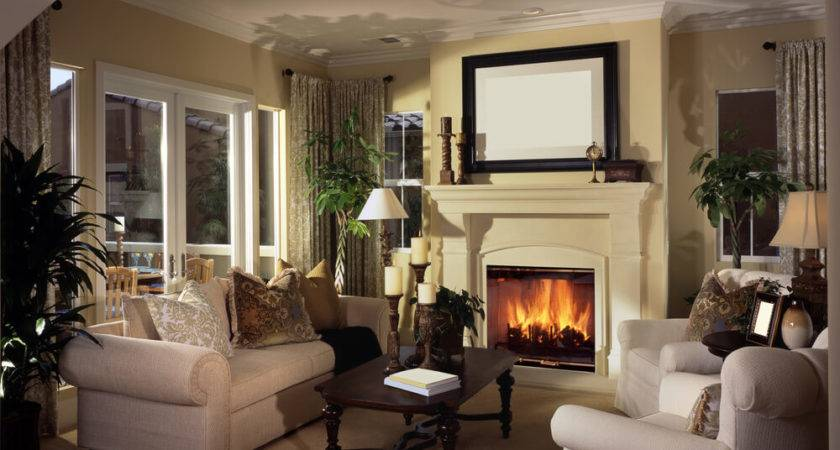 Small Living Room Fireplace Home Decorating Design
