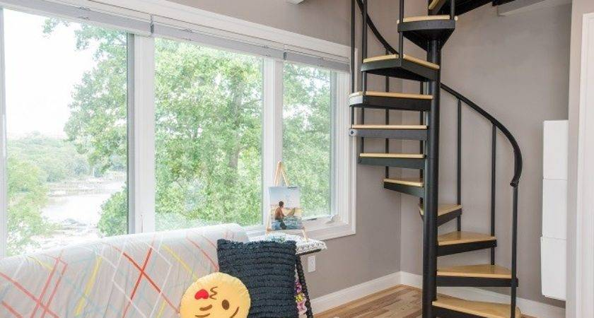 Small Lofts Maximize Space Salter Spiral Stair