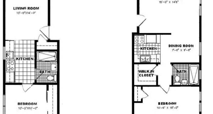 Small One Bedroom Apartment Floor Plans Gorgeous