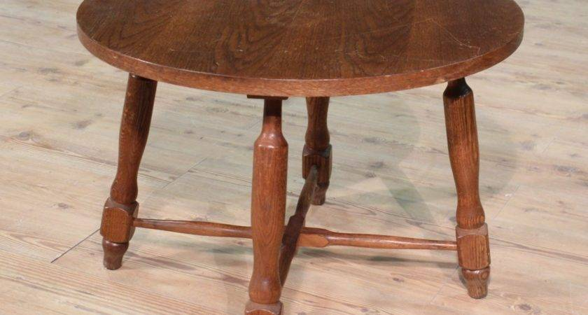 Small Table Low Living Room Rustic Paint Oak Holland