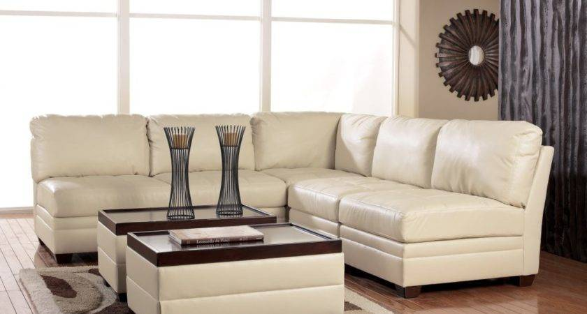 Sofas Decorating Ideas Features White Leather Cushioning