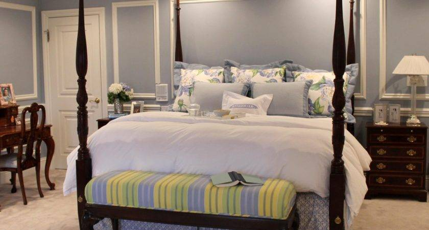 Soft Traditional Master Bedroom Tailored Pillow