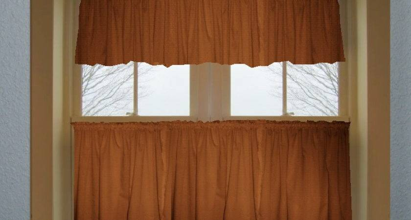 Solid Rust Colored Kitchen Curtain Only Valance Sold