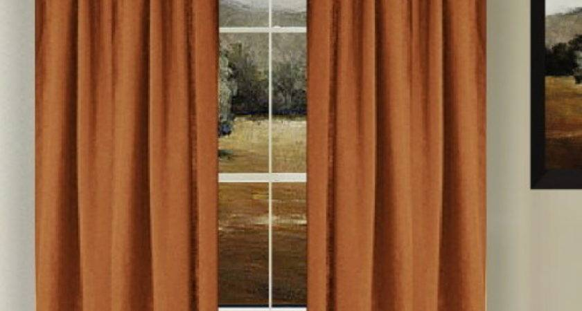 Solid Rust Colored Shower Curtain