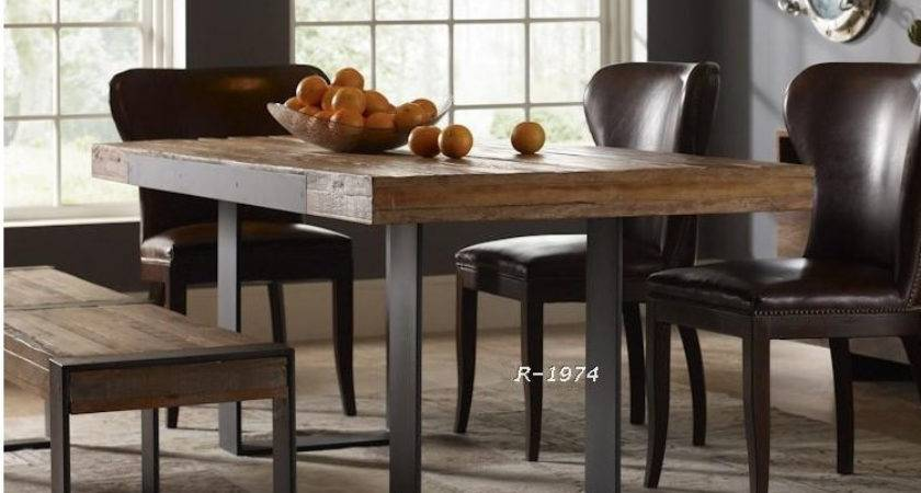 Solid Wood Furniture Vintage Wrought Iron Table Desk