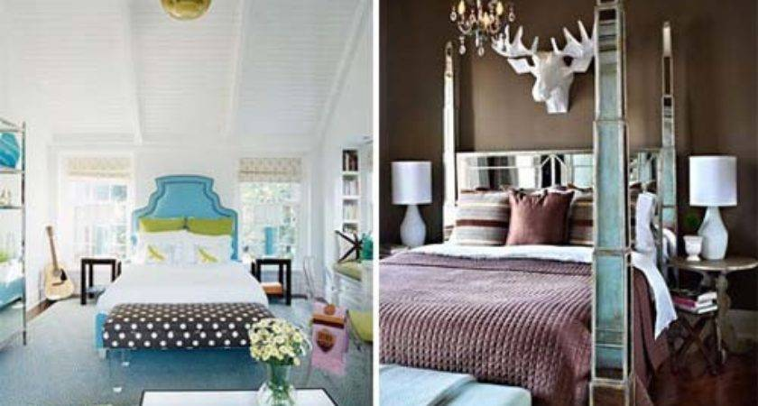 Sophisticated Brown Blue Bedroom Decorating Ideas