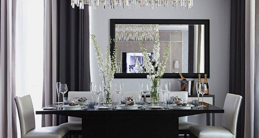 Sophisticated Dining Room Black Gray