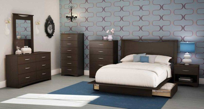 South Shore Contemporary Bedroom Furniture Set Wooden