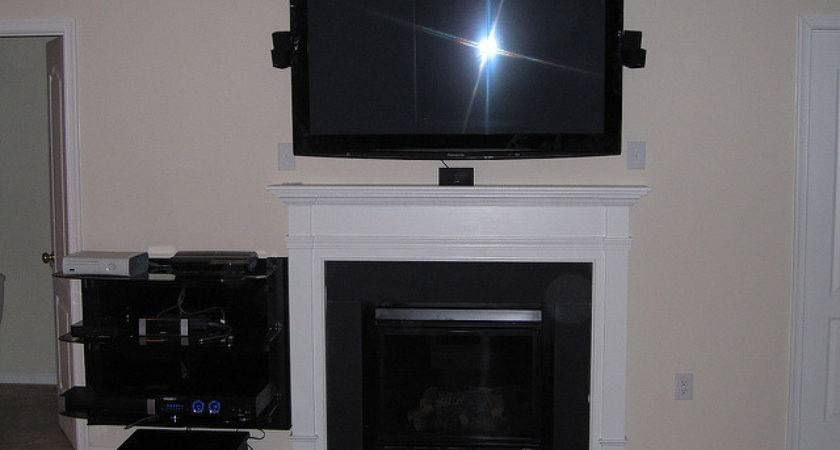 Speakers Wall Over Fireplace Surround Sound