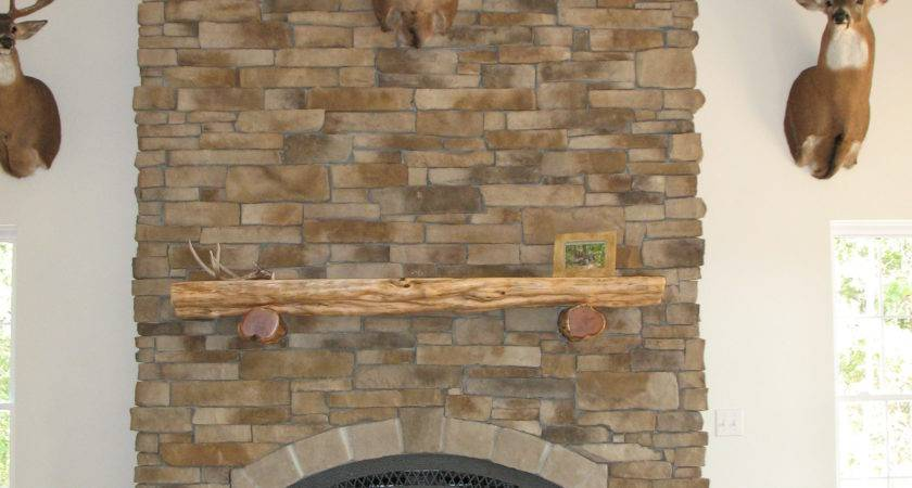 Stacked Stone Fireplaces Popular Home Decorating Colors