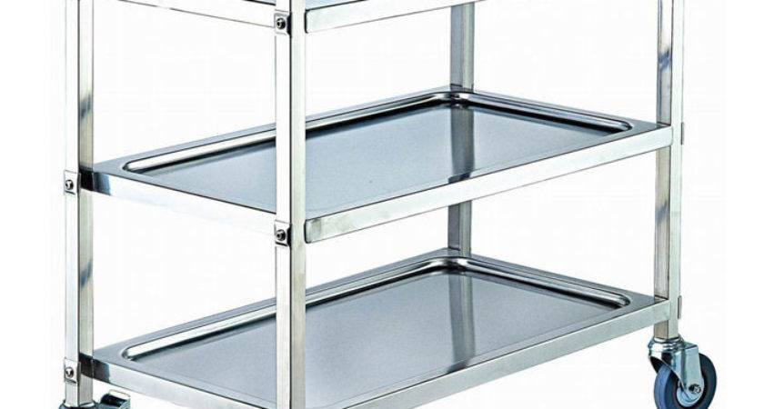 Stainless Steel Tier Kitchen Dining Food Utility Trolley