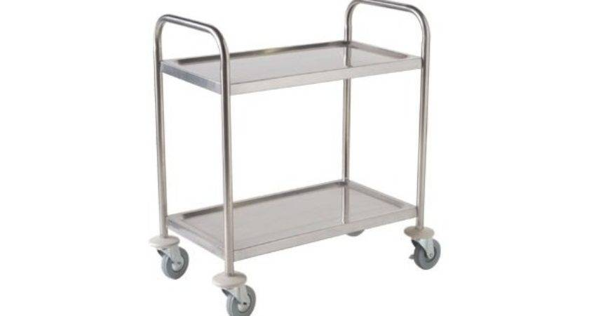 Stainless Steel Trolley Cart Tier Large