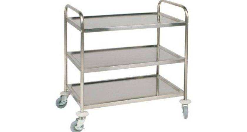 Stainless Steel Trolley Cart Tier Small