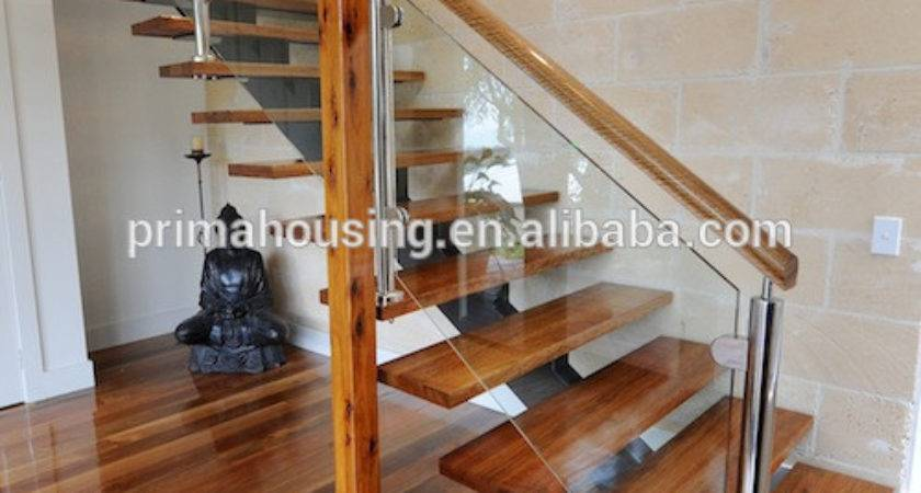 Stainless Wire Steel Railing Wooden Stair Grill Design