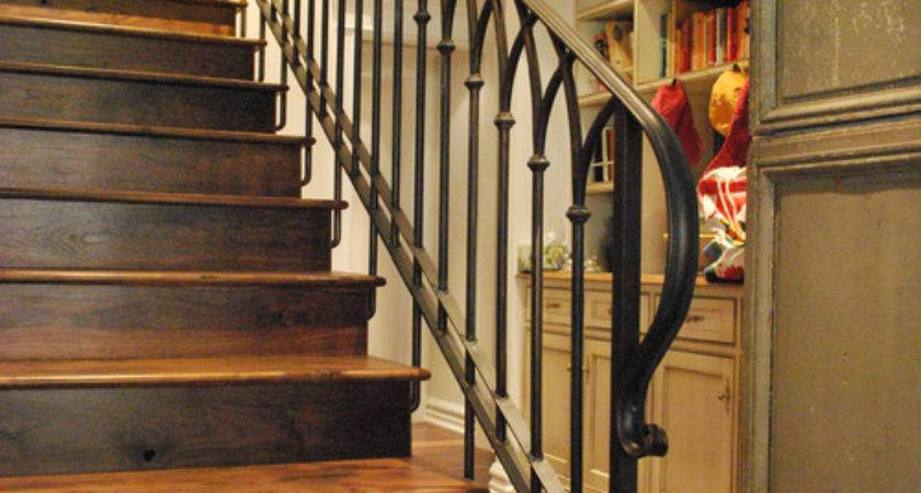 Stair Railing Designs Wood Iron