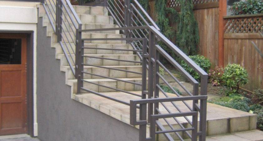 Stairs Extraordinary Exterior Stair Railing Cool Looking