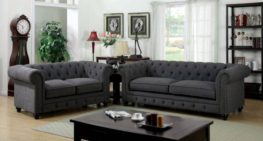 Stanford Gray Fabric Living Room Set