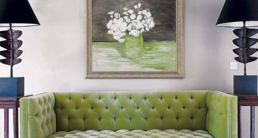 Statement Green Sitting Room Sofa Edwardian Country