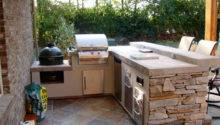 Stone Grill Outdoor Kitchen Islands Outside