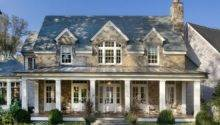 Stone House Plans Porch Exterior Traditional