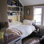 Storage Ideas Small Bedrooms Built Bookshelves