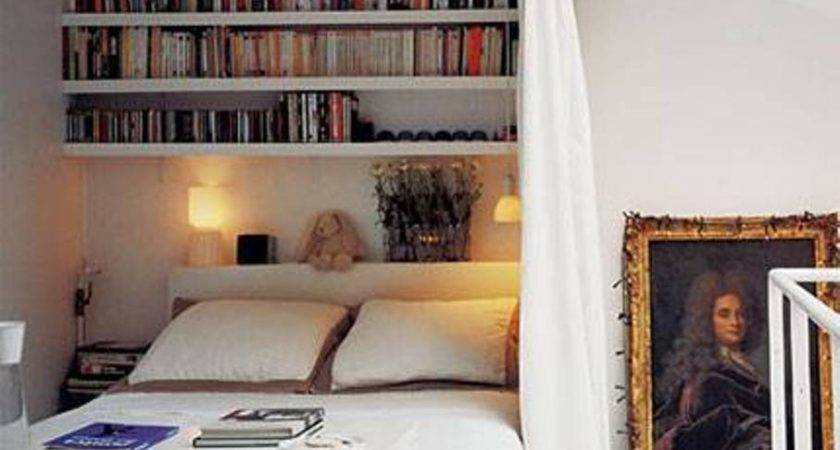 Storage Ideas Small Bedrooms Open Shelving Over Bed