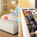 Storage Ideas Small Bedrooms Pinterest Creative