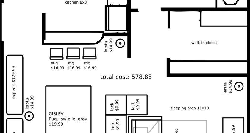 Studio Apartment Layout Ikea Furniture