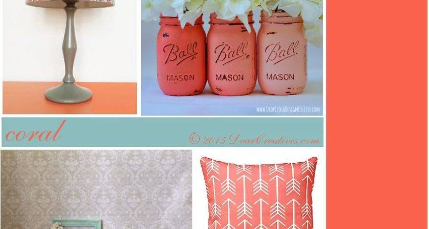 Stunning Coral Color Home Decor Decorating Design