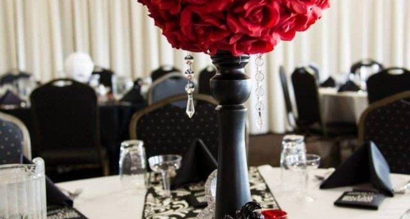 Stunning Red White Table Decorations Best