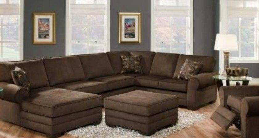 Stunning Shaped Brown Sectional Sofa Design Inspiration