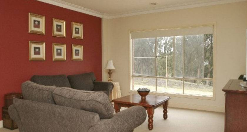 Stylish Home Design Ideas Red Accent Wall Living Room