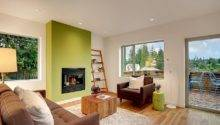 Stylish Living Room Green Accent Wall Decoist
