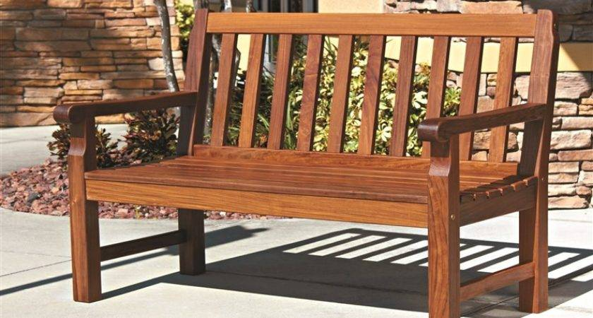 Stylish Outdoor Furniture Wooden Benches Ipe Wood