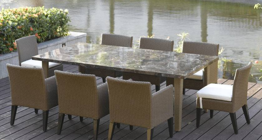 Stylish Patio Furniture Dining Table Sets